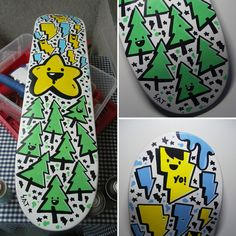 Have you ever seen a skateboard design that you would like to hang it on your wall and never even think about letting it be skated, well here are some of these, a selection of all kinds of crazy skateboard designs that you would think twice before skating on them.