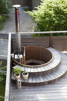- Lilly is Love Outdoor Baths, Outdoor Spa, Outdoor Gardens, Outdoor Living, Outdoor Decor, Tree House Plans, Hot Tub Deck, Terrace Garden, Backyard Patio