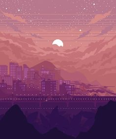 I create pixel art scenery and animations!