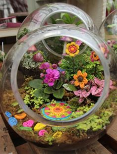 Tonkadale Greenhouse fairy garden containers