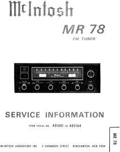 mcintosh mc 2125 original service manual mcintosh service rh pinterest com