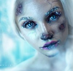 Ice cold make up / frozen snow queen sfx make up