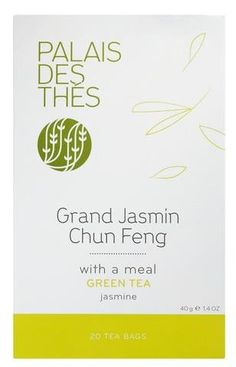 Palais des Ths Grand Jasmin Chun Feng Green Tea 20 Tea Bags 40g14oz ** Click image to review more details. Note: It's an affiliate link to Amazon.