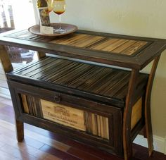 Hand crafted rustic media table