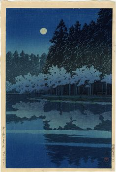 Kawase Hasui - love the reflection                                                                                                                                                                                 More