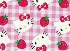 2 yards of Sanrio Hello Kitty pink berry gingham by kittyglammed, $22.00
