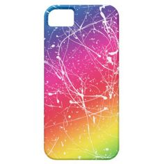 rainbow paint splats iphone 5 case