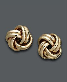 Love Knot Stud Earrings - Macy's, sometimes you need to feel a little 80s