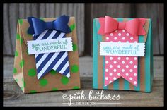Stampin' Up Shine On Treat Bags created with the Gift Bag Punch Board at Pink Buckaroo Designs (Video Tutorial)
