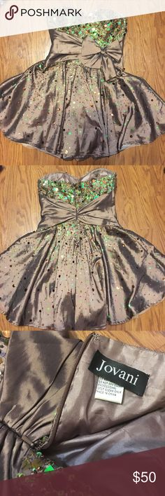 Authentic Jovani Cocktail Dress Only worn once! Jovani Dresses Strapless