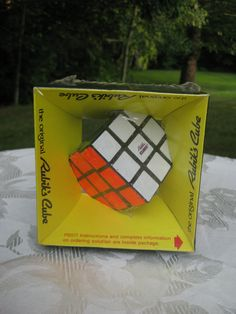Vintage Rubik's Cube by IDEAL Mint Condition, Original Packaging. $28.00, via Etsy-VintageByThePound