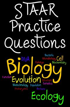 These STAAR Biology practice questions are a great way to get your high school students ready and prepared for the STAAR Biology exam. #staar #biology