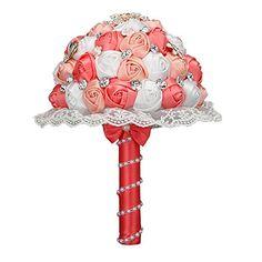 Cristallo Matrimonio Sposa Spilla Bouquets K š ¹ somministrazione nstliche fiori perline pizzo floreale korallen