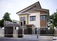 50 Small Two-storey House Designs That Can Be Fitted In Small Lot Area - Facade house - Pinnwand Zen House Design, Two Story House Design, Bungalow Haus Design, 2 Storey House Design, Two Storey House, Minimalist House Design, Zen Design, Design Ideas, Modern Zen House