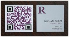 Biglietti da visita con QR code per essere subito raggiungibili