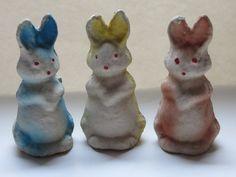 Vintage Paper Mache Easter DecorationCandy by fleamarketfloozie, $12.00