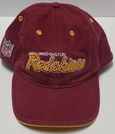 9310d2d2fed Reebok Onfield NFL Washington Redskins Strapback Adj Maroon Gold Cap Hat  Cotton