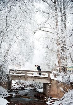 Gorgeous winter wedding photography