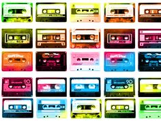 The analog audio tape cassette Foto Picture, Little Bit, Glitter Graphics, Mixtape, Childhood Memories, Old School, Retro Vintage, Graffiti, Scrapbook