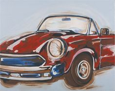 @rosenberryrooms is offering $20 OFF your purchase! Share the news and save!  Vintage Car Hand Painted Canvas #rosenberryrooms