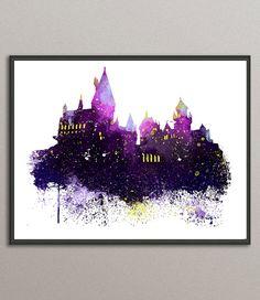 Harry Potter Hogwarts Castle Art Print Harry by DownloadExpress
