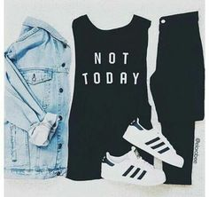 outfit, fashion, and adidas kép