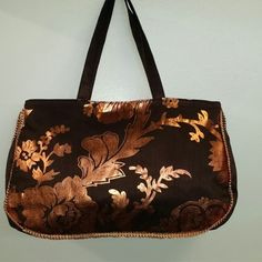 Metalic bloom Fall Bag - Dupion Silk Fabric Bag, Floral Design Handbag. Buy Online @ signaturethings.com #Handbag #Handbags #Purses #Wallets #Hobos #Hobobags #CrossBodybag #Shoulderbags #EveningBag #GirlsBags #Leather #Clutchesbag #ShopOnline #WomensFashions #Gifts #RickiDesigns #Designerbags