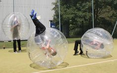 Have you tried Body Zorbing yet?! To body-zorb you crash into other players inside cushioned balls.