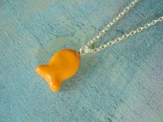 Goldfish Polymer Clay Charm Necklace. $15.00 #goldfish #jewelry