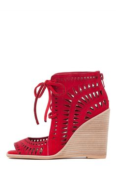 Jeffrey Campbell Shoes RODILLO-HI Sandals in Red Suede