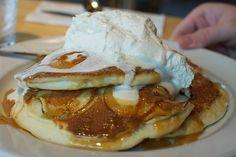 The Bongo Room - Wicker Park/South Loop Low Carb Breakfast, Diabetes, Pancakes, Sugar, Apple, Food, South Loop, Queso Fresco, Sweet Recipes