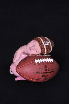 ready for some football Football Nursery, Newborn Football, Baby Boy Football, Big Brother Pictures, Cute Baby Pictures, Newborn Pictures, Kid Pictures, Baby Poses, Newborn Poses