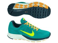 Wmns Nike Zoom Structure 17 Green/Volt-Mango Running 615588 370 Size Air Max Sneakers, Sneakers Nike, Nike Zoom, Nike Air Max, Running Shoes, Footwear, Lady, Women's Shoes, Fitness