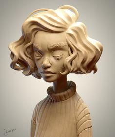ArtStation - SculptJanuary 17 - Day 03: Woman Portrait, Julien Kaspar