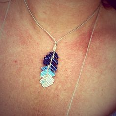 Collier Plumy perles bleues Soline