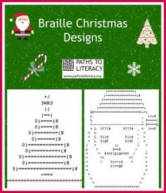 Try these fun braille Christmas designs!