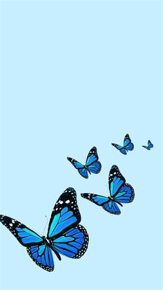 Blue Butterfly Wallpaper (original) | Blue Butterfly