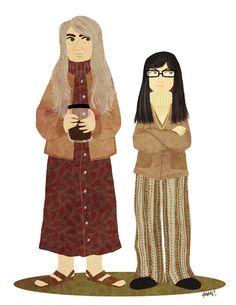 Toni & Candace <3  feminist book shop owners - portlandia