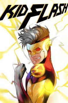 Kid Flash by onlyfuge on DeviantArt - Frieda Dc Comics, Cute Comics, Flash Comics, Comic Book Characters, Comic Character, Comic Books Art, Character Design, Kid Flash, Teen Titans