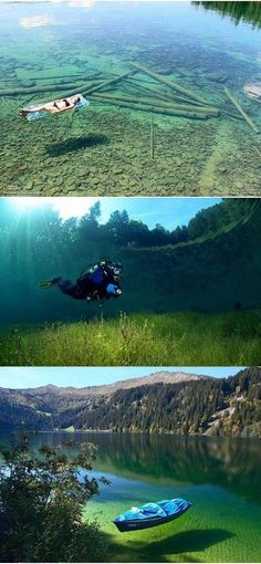 Because of the crystal-clear water, Flathead Lake in Montana seems shallow, but in reality is 370 feet in depth!