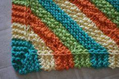 knit dishcloth | Hanging Dish Towel and Dishcloth Patterns dish cloth pattern knitting ...