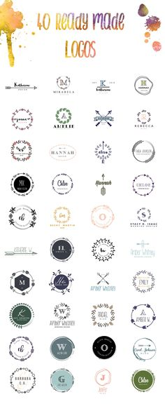 Feminine Logo Kit + BONUS by Graphic Dash on @creativemarket