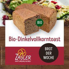 Unser Bio-Dinkelvollkorntoast 🍞 Ein gesunder Toast, der auf das urtümliche Getreidekorn reduziert ist. 🌾 Ohne Auszugsmehl. Dafür mit viel Geduld und Ruhe. Hervorragend geeignet auch zum Toasten. 😋☝️ Zutaten: Bio-Dinkel, Wasser, Meersalz, Hefe, Bio-Gerstenmalz  #zagler #naturbäckereizagler #backenmachtglücklich #naturbäckerei #biobrot #dinkeltoast Desserts, Food, Vegan Baking, Sea Salt, Patience, Grains, Tailgate Desserts, Deserts, Essen