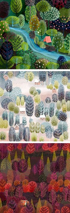 Landscape Illustration by Jane Newland