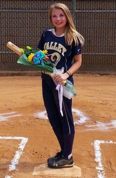 Softball Roses for 8th Grade Graduation