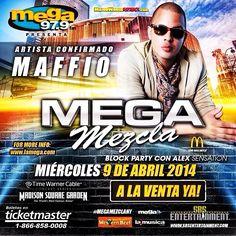 El Rey del merengue electronico en Madison Square Garden #madisonsquaregarden este 9 de Abril 2014