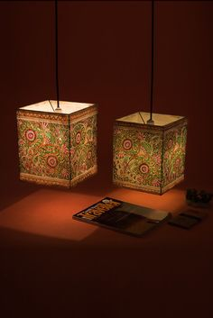 Trendy Home Decored Ideas Living Room Indian Hanging Lamp Shade, Hanging Lights, Handmade Lampshades, Buy Lamps, Painting Lamp Shades, Lampshade Designs, Madhubani Painting, Madhubani Art, Indian Living Rooms