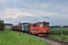 Jindřichohradecký úzkorozchodný nákladní vlak.