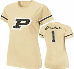 Purdue Boilermakers Old Gold Women's Galaxy Jersey T-Shirt by Colosseum. $22.99. Machine washable. Team colored stripes on sleeves. Rib knit collar. Women's Galaxy Jersey T-Shirt. Distressed screen print graphics. Make sure you have a sleek Boilermakers look with this Purdue Boilermakers Old Gold Women's Galaxy Jersey T-Shirt. Brought to you by Colosseum, this Purdue Boilermakers t-shirt features distressed screen print graphics and a rib knit collar. Become the ul...
