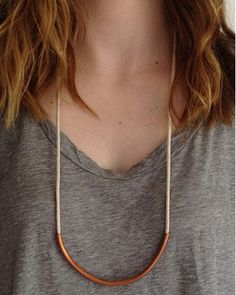 Copper Standard Off White Necklace by JewelMint.com, $29.99